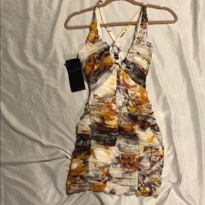 NWT BEBE xxs multi-colored dress